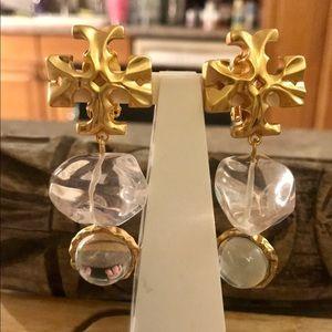 Tory Burch Roxanne Double Resin Clip Earrings
